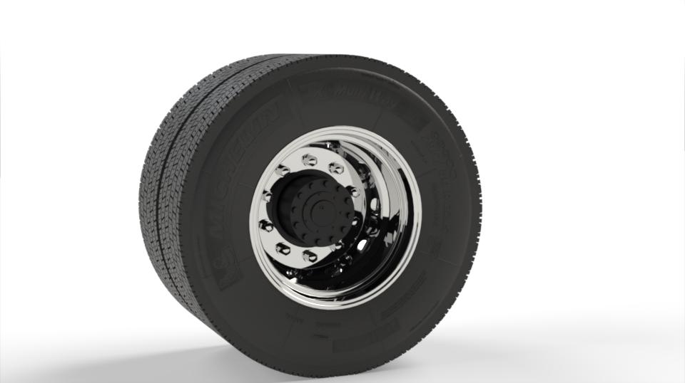 1:14 scale Michelin 295/80 R22.5 tire and rim