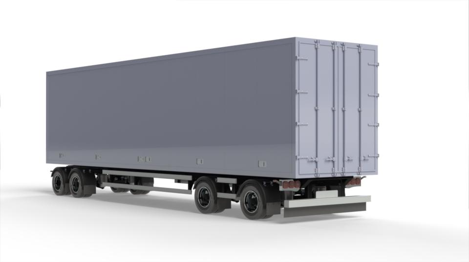 1:14 Ekeri 4 axle box trailer