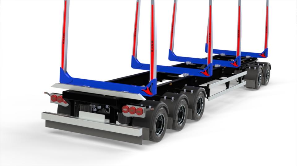 1:14 ExTe 5 axle bunk timer trailer